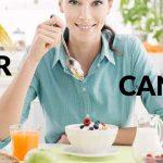 غذاهای حاوی فیبر و سرطان سینه - رژیم های غذایی پرچرب و خطر ابتلا به سرطان سینه